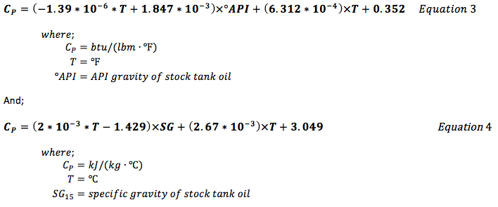 api formula Simple Equations to Approximate Changes to the Properties of Crude ...